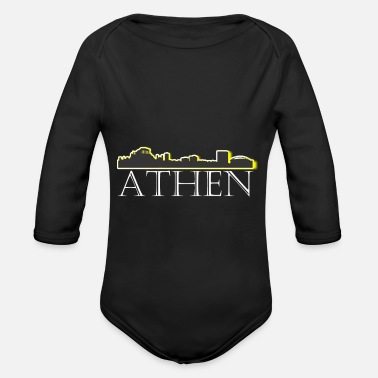 Athens Athens - Organic Long-Sleeved Baby Bodysuit