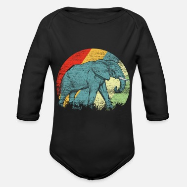 Elephant Pachyderm Ivory Proboscis Animal Gift - Organic Long-Sleeved Baby Bodysuit
