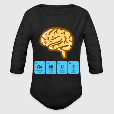 Genius periodic table - Organic Longsleeve Baby Bodysuit