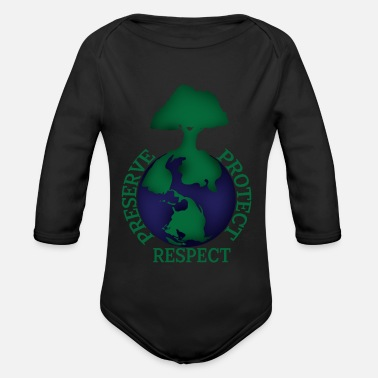 Mother Earth Planet Earth Mother Earth - Organic Longsleeve Baby Bodysuit