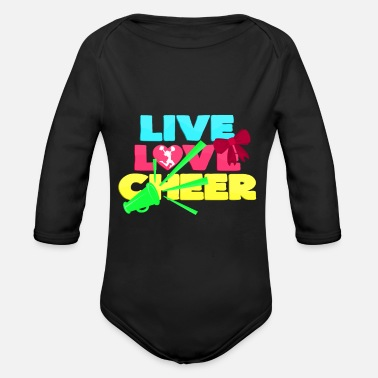 Cheers Cheer - Organic Long-Sleeved Baby Bodysuit