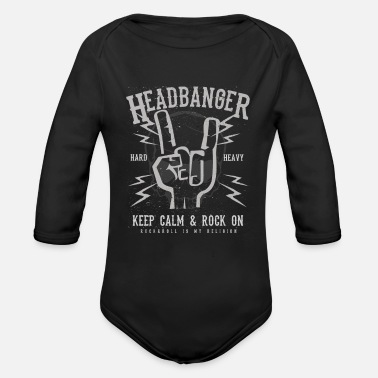 Headbang Headbanger - Organic Long-Sleeved Baby Bodysuit