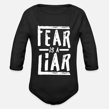 Jesus Fear is a Liar - Baby Bio-Langarm-Body