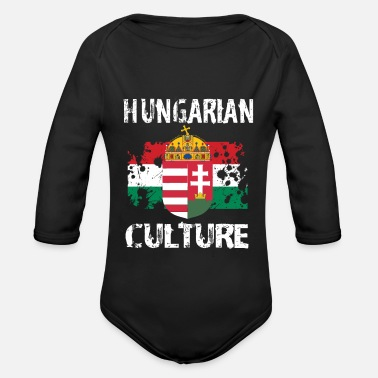 Hungarian Culture - Organic Long-Sleeved Baby Bodysuit