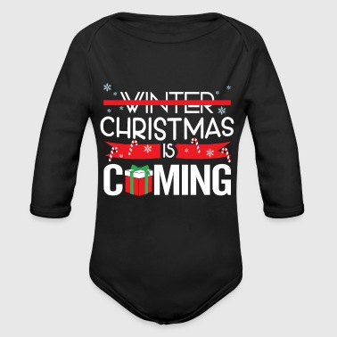 Christmas is around the corner - Organic Longsleeve Baby Bodysuit