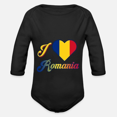 Romanesque Romania - Organic Long-Sleeved Baby Bodysuit