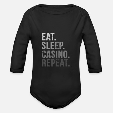 Casino Ät Sleep Casino Casino Repeat - Ekologisk långärmad babybody