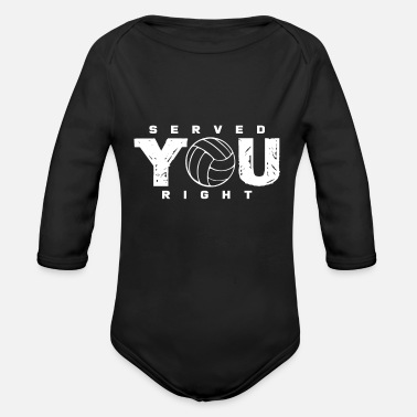 Serve Volleyball serve - Organic Long-Sleeved Baby Bodysuit