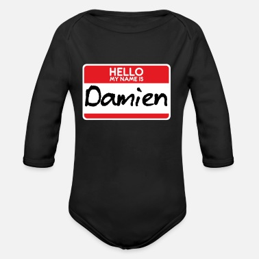 Horror Film Damien Horror Film The Omen Halloween Costume - Organic Long-Sleeved Baby Bodysuit