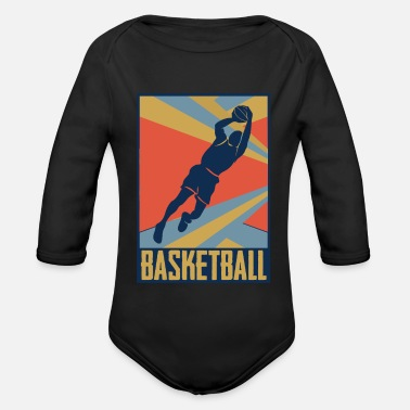 Old School Look de basket old school - Body bébé bio manches longues