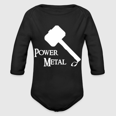 Power Metal Power Metal avec un marteau - Body bébé bio manches longues