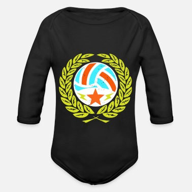 Beachvolleyball Volleybal Premium shirt Beachvolleybalgeschenk - Baby bio-rompertje met lange mouwen
