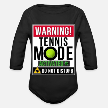 Mode Tennis Mode Mode Activated - Organic Long-Sleeved Baby Bodysuit