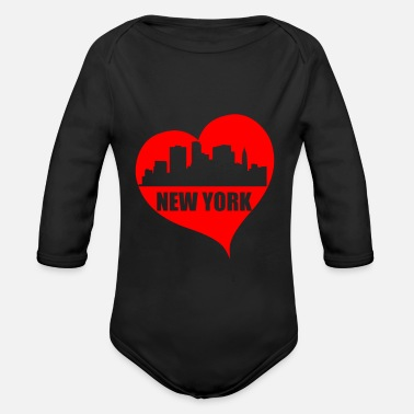 I Love New York I Love New York Amo New York Suvenir - Body ecologico per neonato a manica lunga