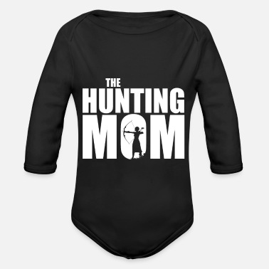 Hunting The Hunting Mother hunting hunting gift - Baby bio-rompertje met lange mouwen
