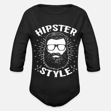 Hipster Hipsters hipster - Organic Long-Sleeved Baby Bodysuit