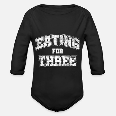 Twins Expectant mother - Organic Long-Sleeved Baby Bodysuit