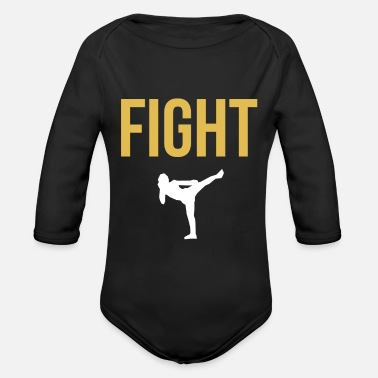 Fight Fight fight battery - Organic Long-Sleeved Baby Bodysuit