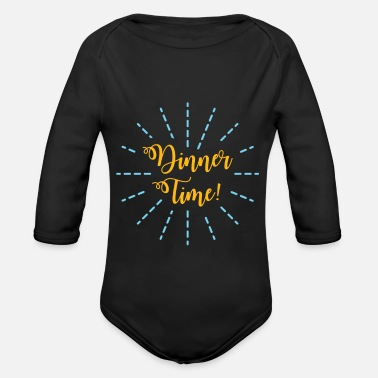 Dinner Dinner gift dinner family - Organic Long-Sleeved Baby Bodysuit