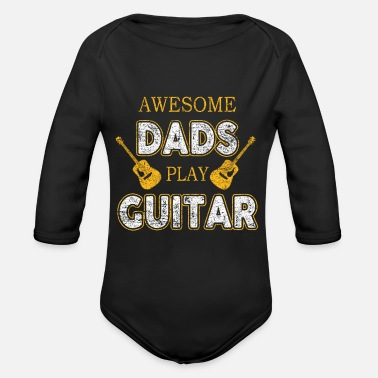Bass Guitar E Guitar Bass Musician Father Father's Day Gift - Organic Long-Sleeved Baby Bodysuit