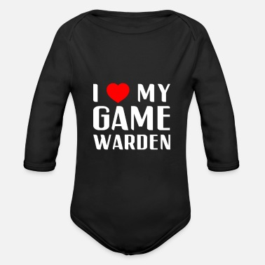 Game Warden I Love My Game Warden Proud Mom Wife Girlfriend - Organic Long-Sleeved Baby Bodysuit