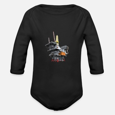 Oil Drilling Drilling platform - oil rig - Organic Long-Sleeved Baby Bodysuit