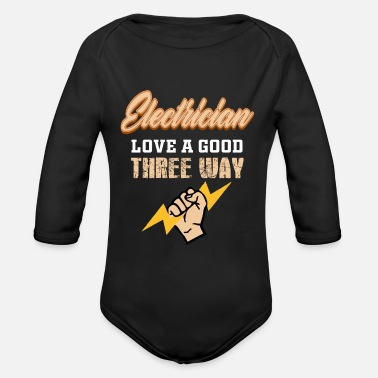 Electricity Electrician Electricity Electricity Electricity Gift - Organic Long-Sleeved Baby Bodysuit