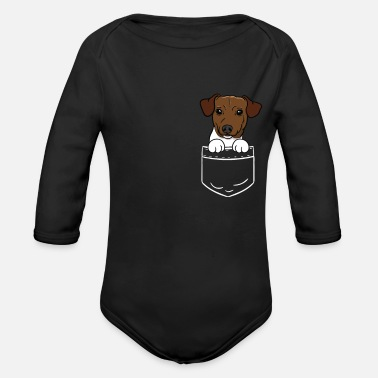 Jack Russel Dog Funny Pocket Pocket Gift - Body a manica lunga per neonati