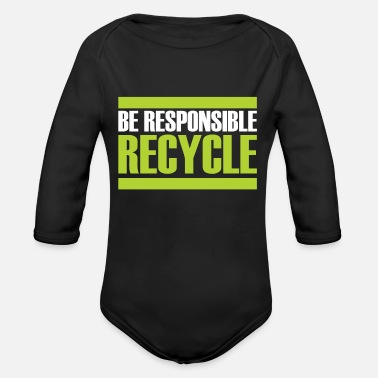 Sustainable Recycling gift sustainability sustainable - Organic Long-Sleeved Baby Bodysuit