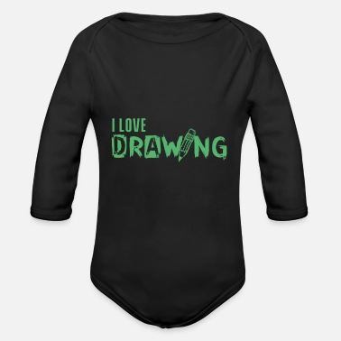 Painting Paint Paint Paint - Organic Long-Sleeved Baby Bodysuit