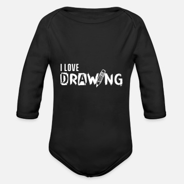 Draw Drawing drawing drawing drawing - Organic Long-Sleeved Baby Bodysuit