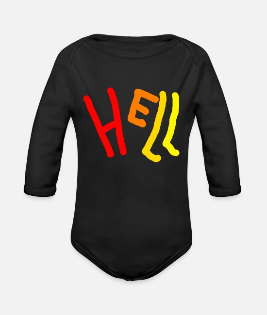 Red Baby Bodysuits - Bright - Organic Long-Sleeved Baby Bodysuit black