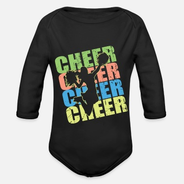 Cheerleading gift idea for sporty daughter - Organic Long-Sleeved Baby Bodysuit