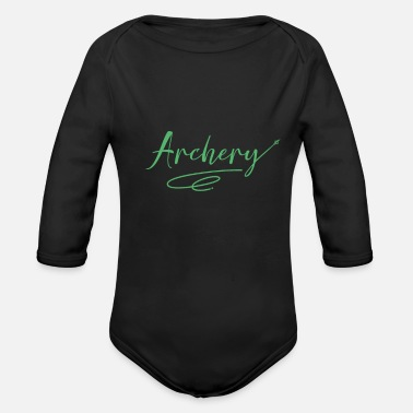 Archers Archer archer archer - Organic Long-Sleeved Baby Bodysuit