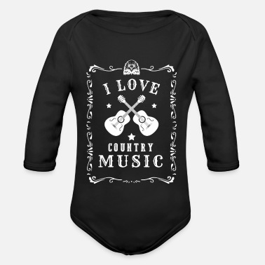 Countrymusic I Love Country Music Music Countrymusic Gift - Organic Long-Sleeved Baby Bodysuit