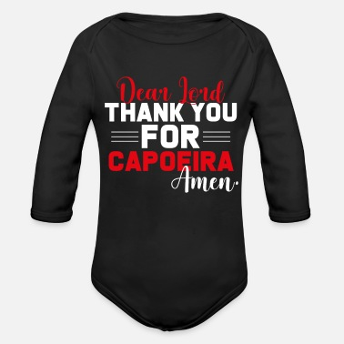 Thank you for capoeira - Organic Long-Sleeved Baby Bodysuit