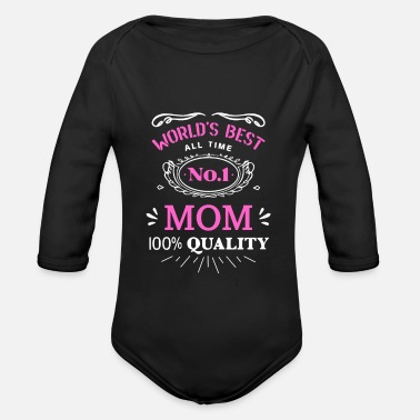 No. 1 Mom - Number 1 Mom - Shirt - Organic Long-Sleeved Baby Bodysuit