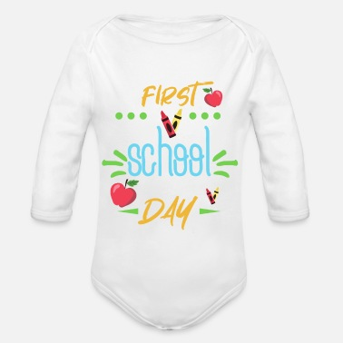 School School enrollment - First day of school - First school day - - Organic Long-Sleeved Baby Bodysuit