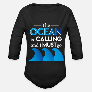 Wave Sailing Captain Ocean - Organic Long-Sleeved Baby Bodysuit