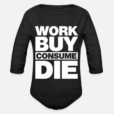 Funny saying Gift Funny saying Fun - Organic Long-Sleeved Baby Bodysuit
