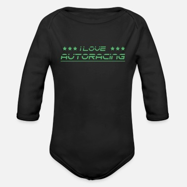 Racing Car Race Car Racing Car Racing Car Racing Car Racing - Organic Long-Sleeved Baby Bodysuit