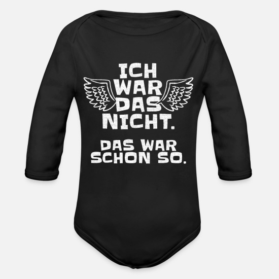 Broken Baby Clothes - I did not war that was so ironic sarcasm - Organic Long-Sleeved Baby Bodysuit black