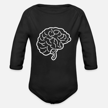 Brain Brain brain - Organic Long-Sleeved Baby Bodysuit