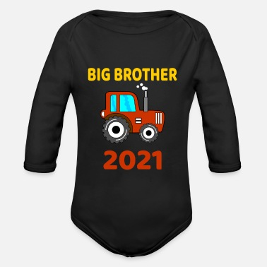 Brother Big Brother Tractor Big Brother 2021 tractor - Organic Long-Sleeved Baby Bodysuit