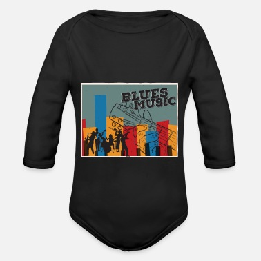 Blues blues - Organic Long-Sleeved Baby Bodysuit