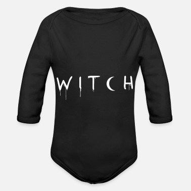 Drippy Drippy Witch - Organic Long-Sleeved Baby Bodysuit
