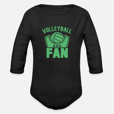 Club Volleyball Volleyball Team Game volleyball volleyball beach volleyball team - Organic Long-Sleeved Baby Bodysuit