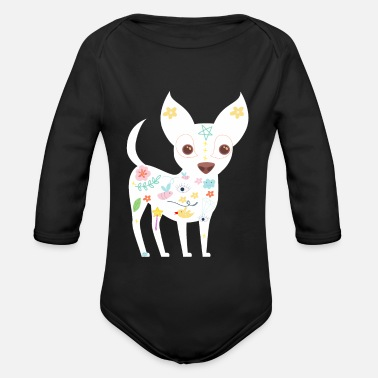 Sweet chihuahua magical pentacle dog love - Organic Long-Sleeved Baby Bodysuit
