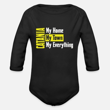 Catania City Catania - Organic Long-Sleeved Baby Bodysuit