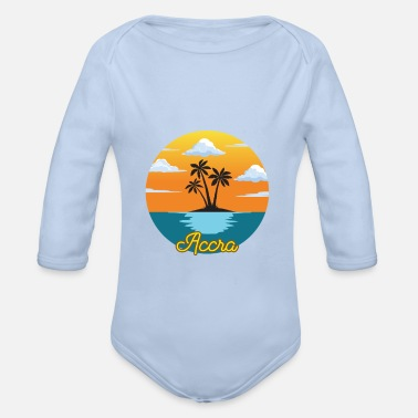 Accra Accra dream vacation and holiday - Organic Long-Sleeved Baby Bodysuit